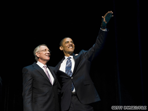 President Obama said Monday that Sen. Reid 'has always been on the right side of history.'
