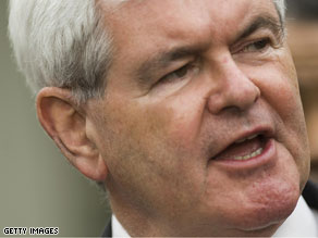 Gingrich says it&#039;s time for Republicans to get behind Michael Steele.