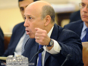 Goldman Sachs CEO Lloyd Blankfein testifies during the first public hearing of the Financial Crisis Inquiry Commission on Capitol Hill.