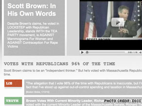 Democrats release new Web video on  Republican Scott Brown.