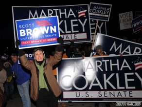 Tuesday's special senate election in Massachusetts between Democrat Martha Coakley and Republican Scott Brown is deadlocked, according to a new poll.