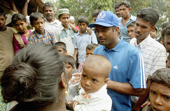 Cricket Superstar Muttiah Muralitharan helped fellow Sri Lankans after the 2004 Tsunami.