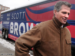 A new poll released Monday afternoon indicates that Republican Scott Brown has a 7-point edge over Democrat Martha Coakley in Tuesday&#039;s special election in Massachusetts for the late Sen. Ted Kennedy&#039;s seat.