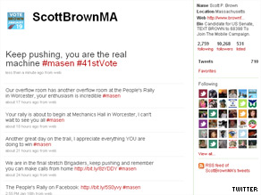 Brown is dominating on the social networking sites.