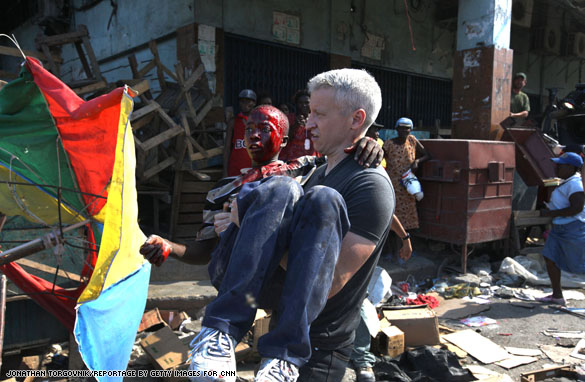 haiti.ac.boy.6 Anderson in the midst of looting chaos
