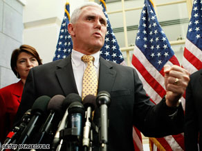Rep. Mike Pence said Tuesday he would not challenge Sen. Evan Bayh in November.