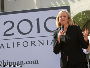 Meg Whitman loaned her gubernatorial campaign $20 million on Thursday.