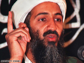 (FILE PHOTO) In a recent radio address, Osama bin Laden praised the attempted Christmas Day bombing of a U.S.-bound airliner. He also warned of more attacks to come.