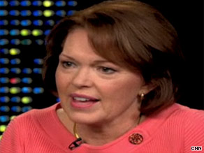 Gayle Haggard is seen here on Larry King Live.