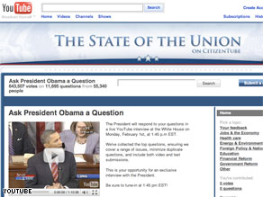 YouTube solicited questions from citizens and then asked the top rated ones to President Obama.