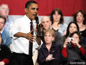 President Obama took questions from voters after announcing his plan for a small business lending fund in New Hampshire Tuesday.