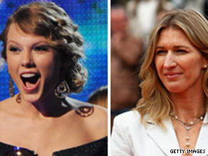 Connect Taylor Swift and Steffi Graf.