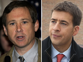 The Democratic state treasurer and a five-term Republican congressman will face off in November to fill the U.S. Senate seat once held by President Obama.