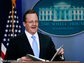 Robert Gibbs faced questions from reporters Thursday.
