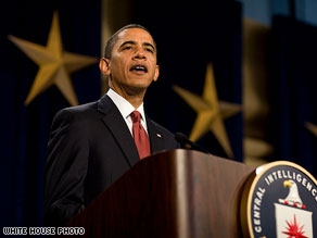 President Obama delivered remarks Friday at a memorial service for fallen CIA employees.