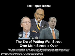 A new DNC ad slams Republicans for Wall Street ties.
