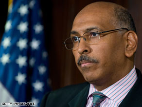 Michael Steele criticized unemployment figures released Friday.