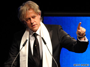Bob Geldof is promoting One Young World in London.