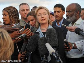 Secretary of State Hillary Clinton will not intervene on behalf of 10 Americans detained in Haiti.