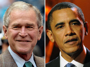 More Americans blame the Bush administration for the nation&#039;s economic troubles than the Obama administration, according to a new poll.