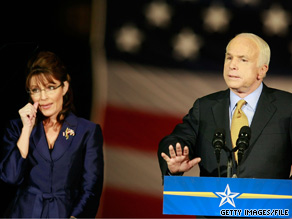 Asked about former Gov. Palin, pictured here with Sen. John McCain, the former Vice President Cheney said Sunday that he hasn't made a decision yet about who he will support in 2012.