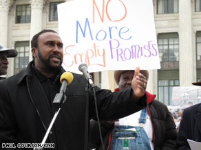 John Boyd, founder of the National Black Farmers Association, spoke Monday at a rally in Washington.