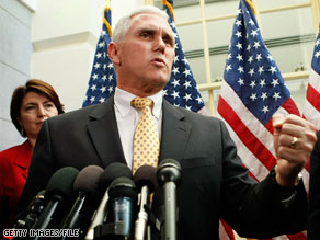 Rep. Mike Pence will not run for Senate in Indiana.