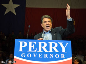 A new poll shows Gov. Rick Perry firmly in the lead.