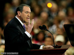 Mike Huckabee says he's against repealing parts of the 14th Amendment.