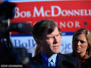 Gov. Bob McDonnell is the latest target of the DNC.