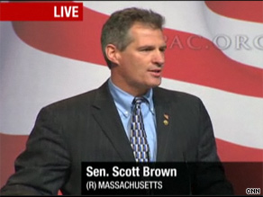 Massachusetts Sen. Scott Brown spoke Thursday at CPAC.