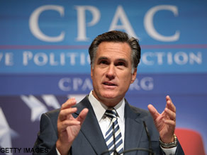 Mitt Romney spoke Thursday at CPAC.