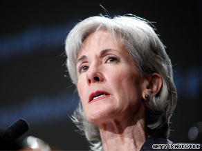 'Premium increases have left thousands of families that are already struggling during the economic downturn with an unpleasant choice between fewer benefits, higher premiums, or having no insurance at all,' HHS Secretary Kathleen Sebelius said Thursday.