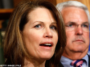 Rep. Michele Bachmann blasted President Obama's economic policies Friday.