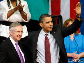 President Obama's campaign-style event also served as a rally for Senate Majority Leader Harry Reid who is facing an extremely tough re-election battle this year.