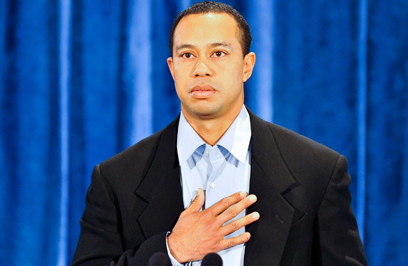 Tiger Woods finally broke his silence with a televised public apology (Getty Images).
