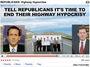 The DNC is out with a new Web video attacking Republicans who took stimulus funding.