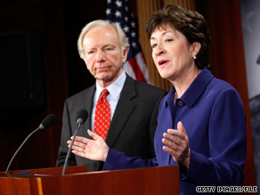 Sens. Joseph Lieberman and Susan Collins call the hiring situation at the Department of Homeland Security ‘unacceptable.’.