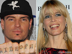 Can you link Vanilla Ice to Claudia Schiffer?