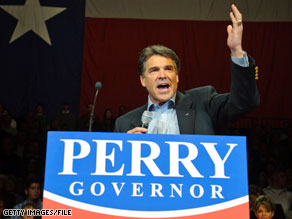Perry and Hutchison face off in a primary Tuesday.