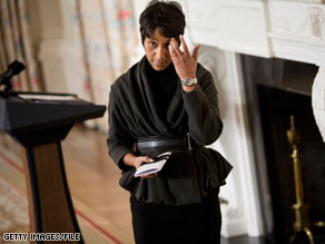 White House Social Secretary Desiree Rogers will step down.