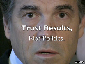 Sen. Kay Bailey Hutchison&#039;s Web video accuses Gov. Rick Perry of &#039;cronyism&#039;.