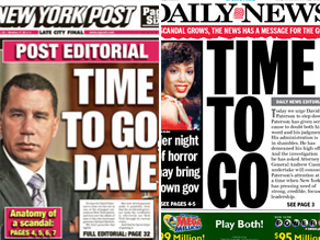 The New York tabs say its time for Paterson to go.
