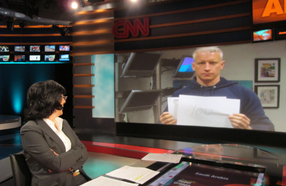 Anderson Cooper joins in on the fun