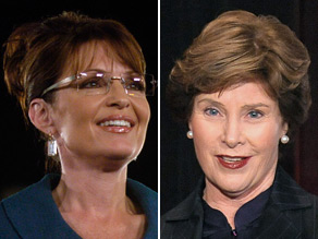 Sarah Palin and Laura Bush will cross paths at an event in June.