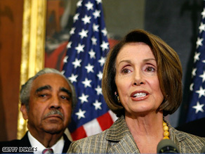 Rep. Charles Rangel (D-NY) and House Speaker Nancy Pelosi.