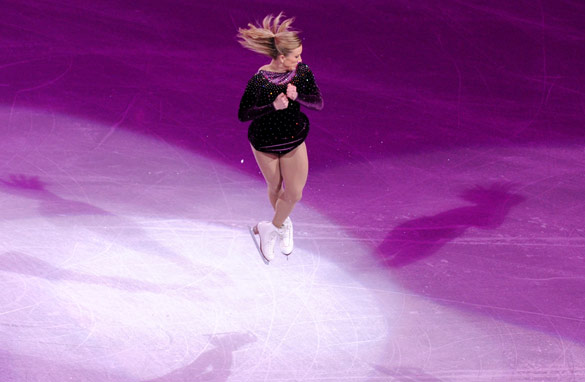 Canadian figure skater Joannie Rochette overcame the death of her mother to take the bronze medal (Getty Images).