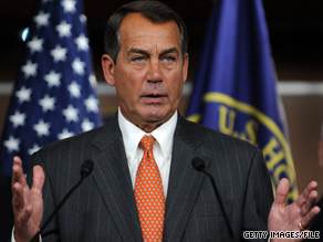Bunning 'has a right as a senator to express his will and he has,' House Minority Leader Boehner said Tuesday.