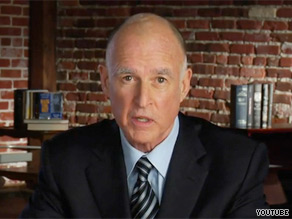 Jerry Brown announced his candidacy for governor of California on Tuesday.