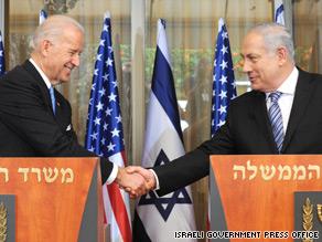 Vice President Joe Biden met Tuesday with Israeli Prime Minister Benjamin Netanyahu.